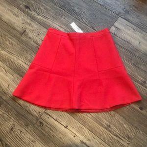 JCrew Red Skirt NWT sz0